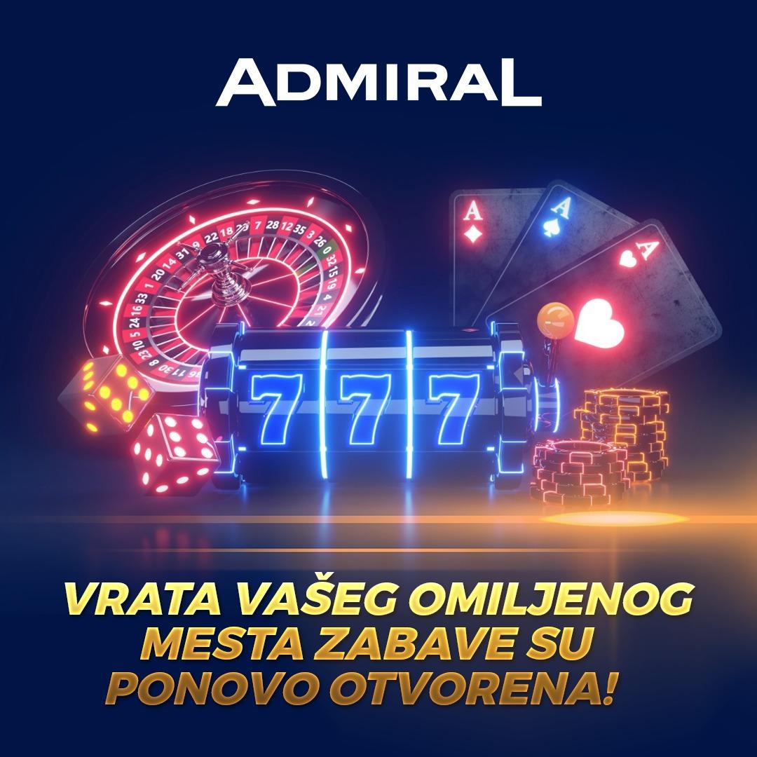 Admiral klubovi su ponovo otvoreni!