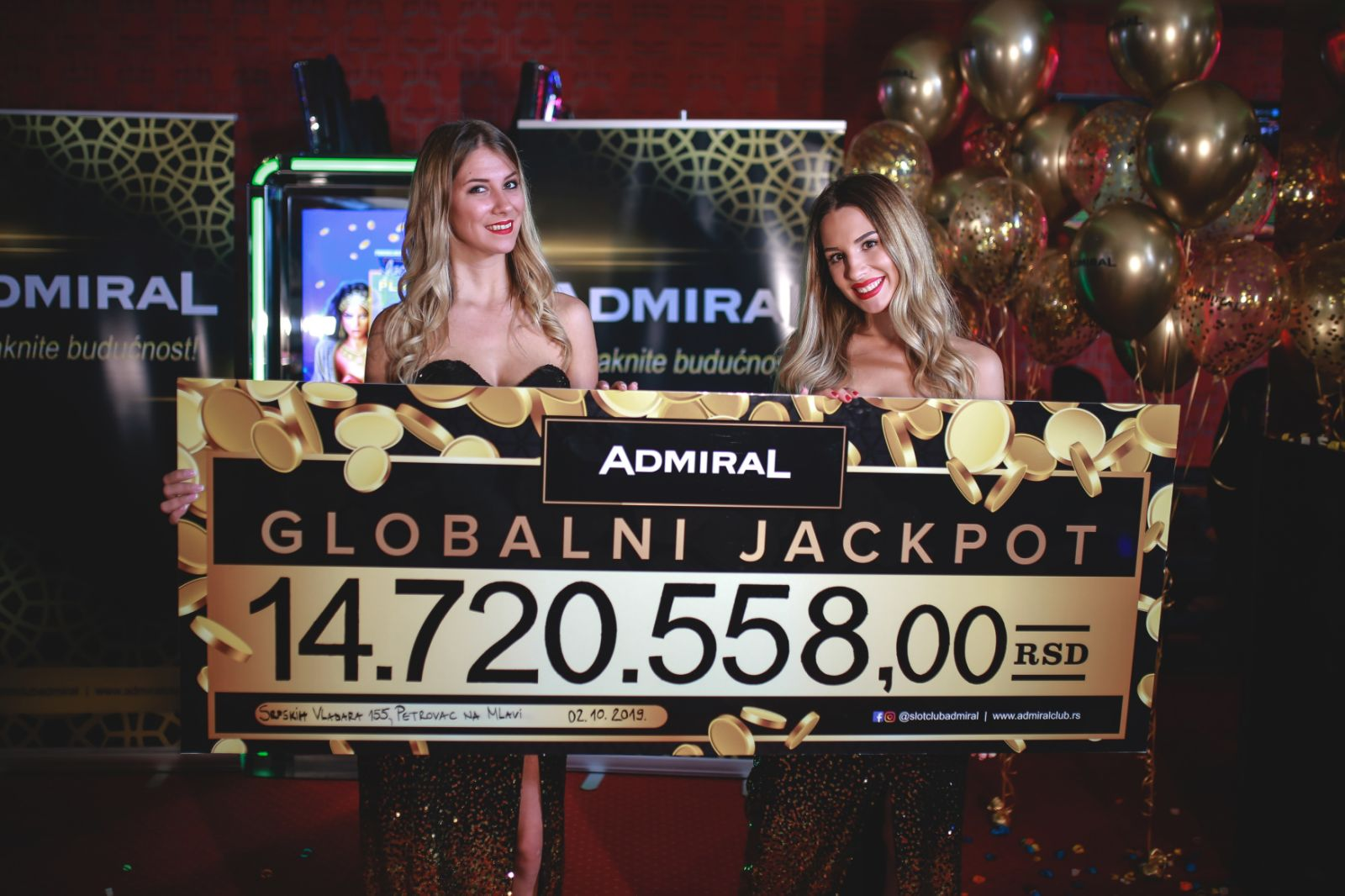 Osvojen je ADMIRAL globalni jackpot!