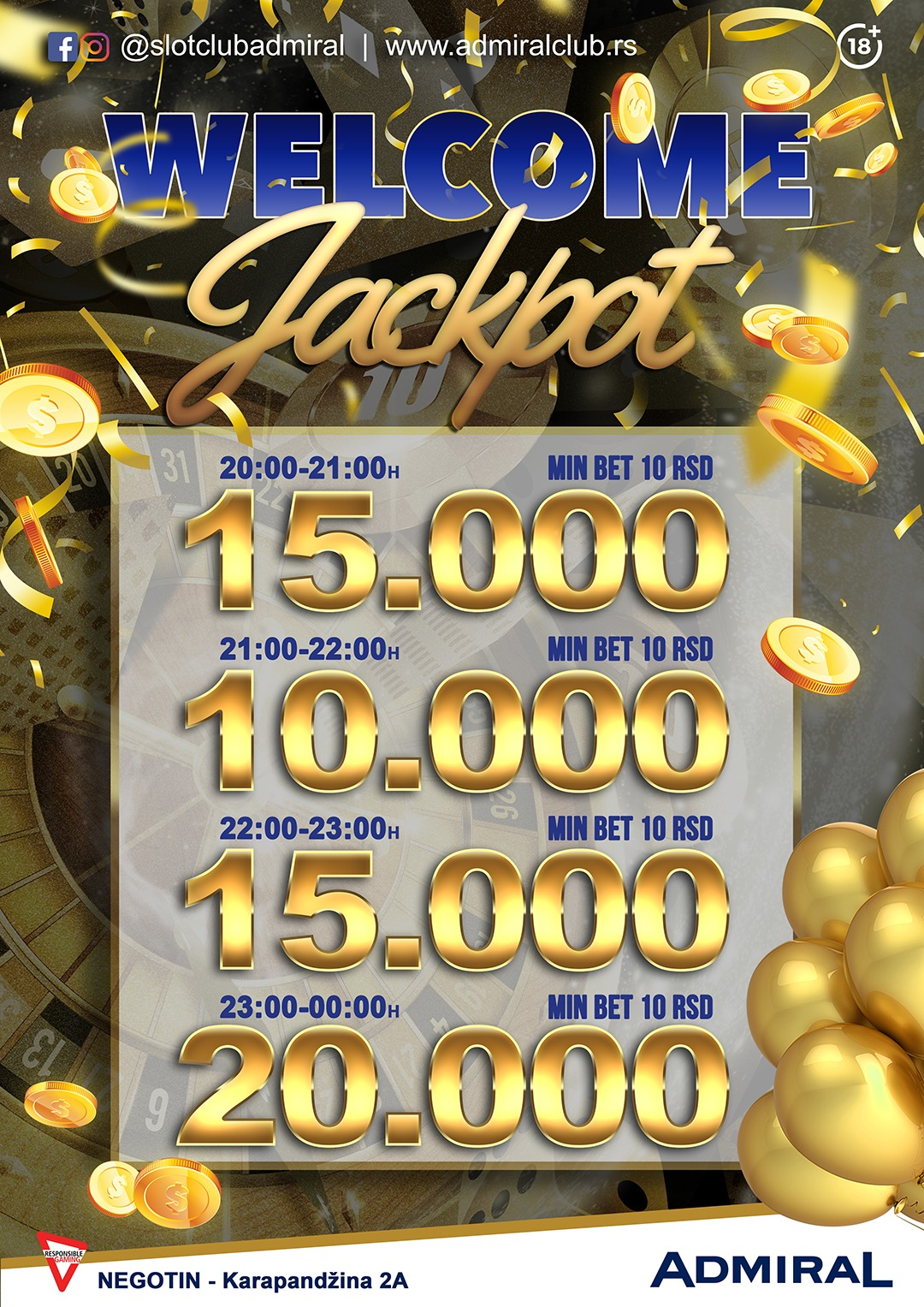 negotin welcome jackpot