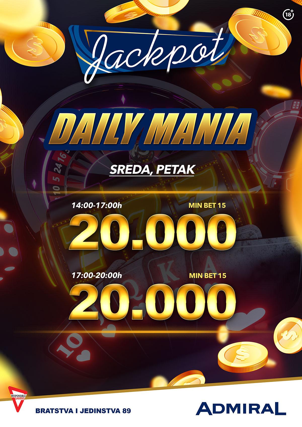 Borča – daily mania jackpot