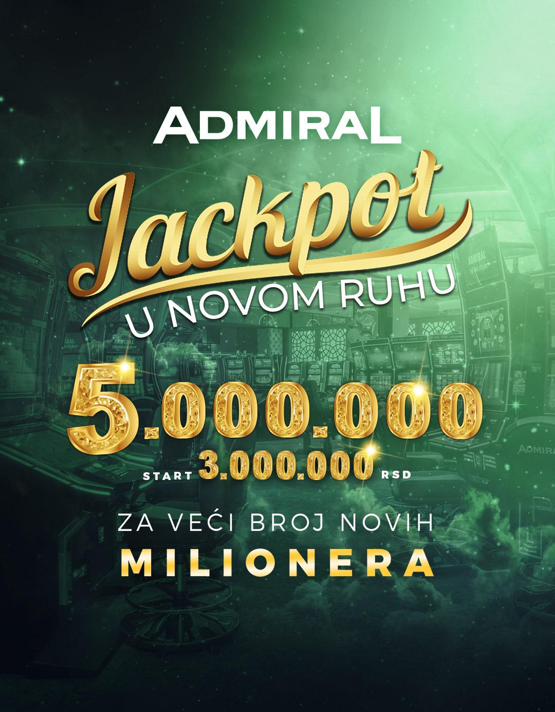 Globalni Admiral Jackpot SRB
