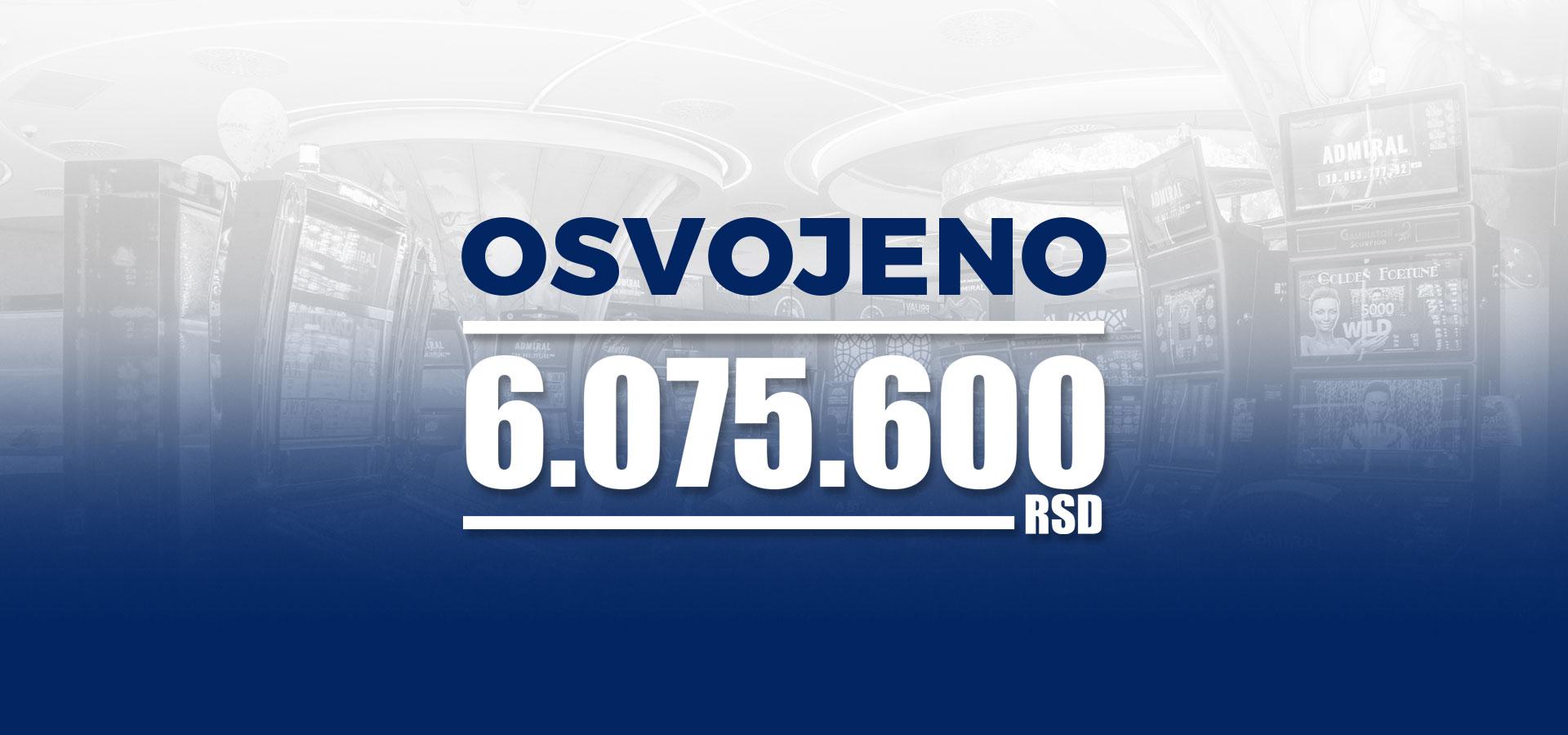 Neverovatan dobitak u PARAĆINU – 6.075.600 RSD