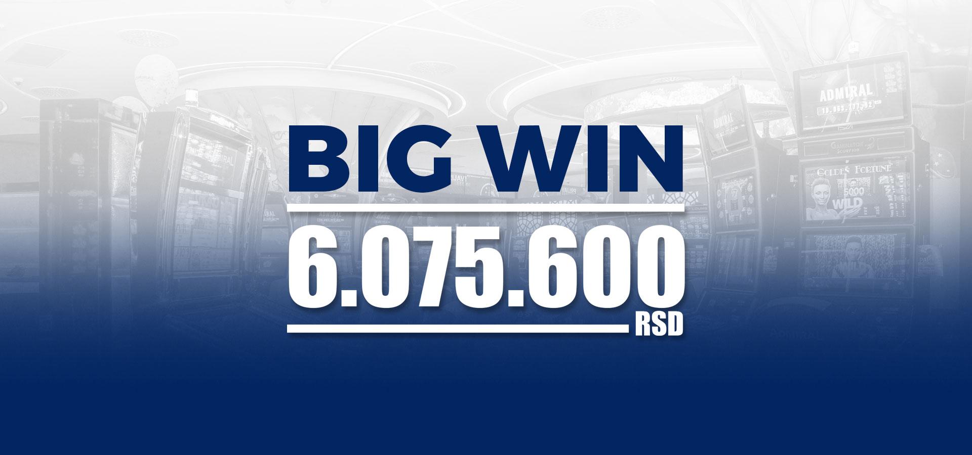 Incredible win in PARAĆIN – 6.075.600 RSD