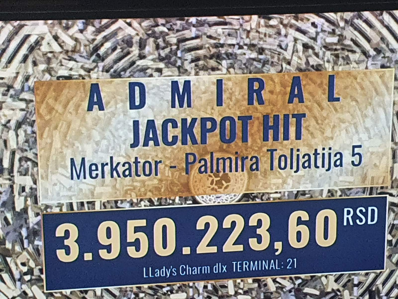 Admiral jackpot in new edition has been won