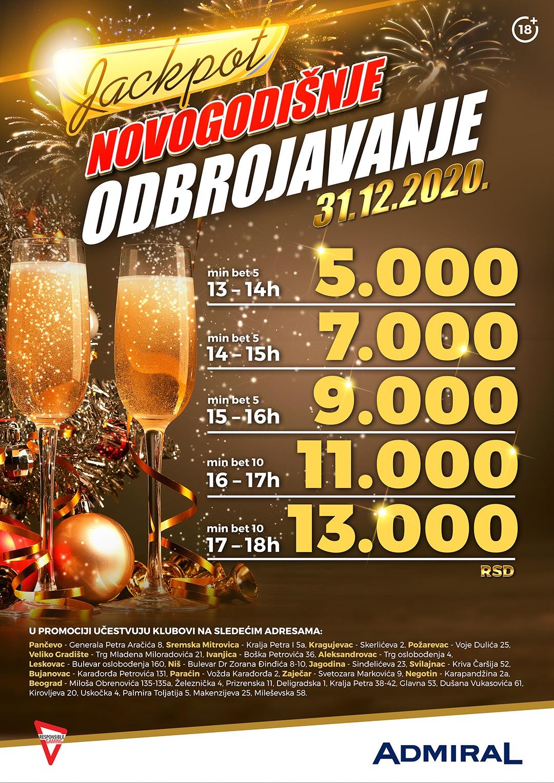 Novogodišnje odbrojavanje JP1 Beograd Glavna