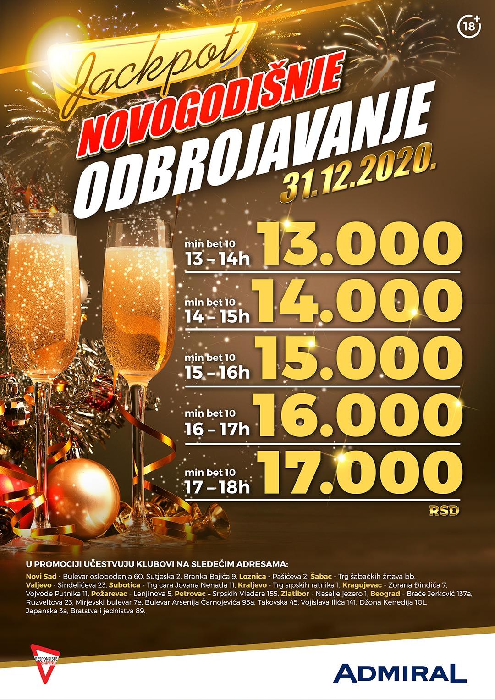 Novogodišnje odbrojavanje JP2 Beograd Mirjevski bulevar