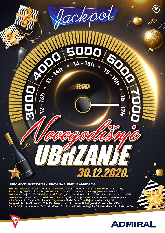 Novogodišnje ubrzanje JP1 Beograd Dušana Vukasovića