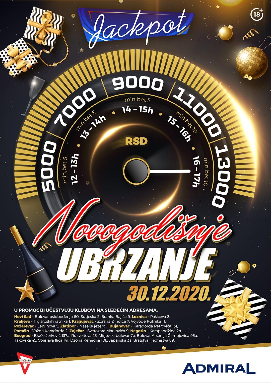 Novogodišnje ubrzanje JP2 Beograd Bratstva i jednistva
